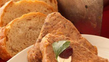 Oxtail terrine, bread service mini  baguette