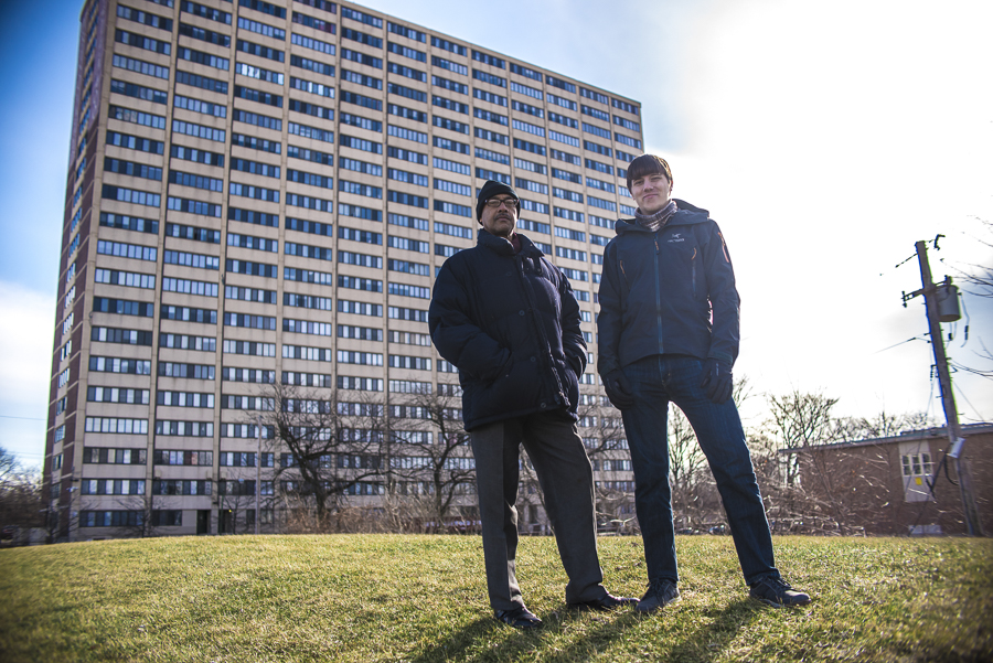 Culture Shock Games developer Michael Block (right) tapped longtime Englewood resident Tony Thornton to heighten the realism of the dialogue and setting in We Are Chicago.