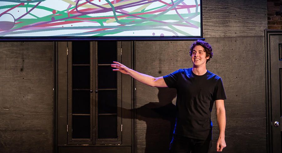 Matthew Hoelter in Witi, an Interactive Show