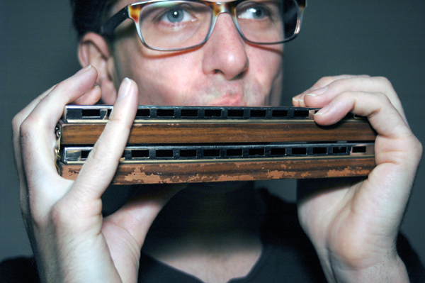 Kessler playing his Hohner 264 Bass Harmonica