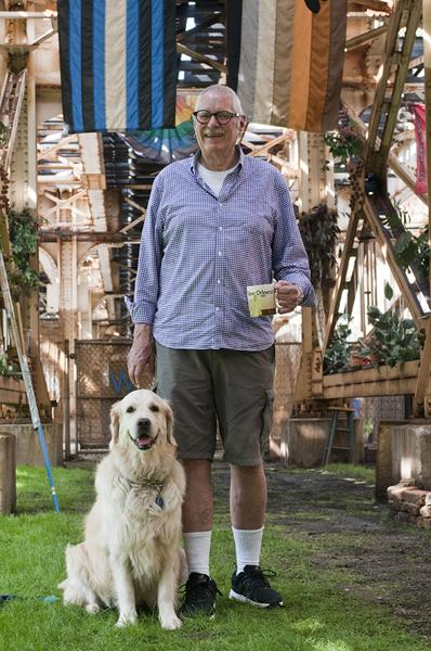 Jack Meyer and his dog, Sarah