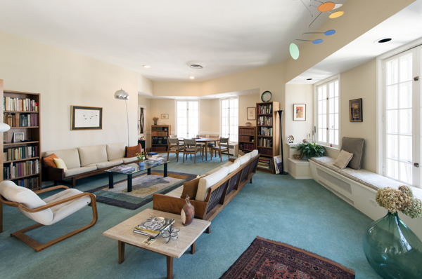 Reverend Philip Blackwell's living room furniture is mostly passed down from his wife Sally's parents, who acquired the pieces in Ohio Amish country from a craftsman working in the Danish modern style.
