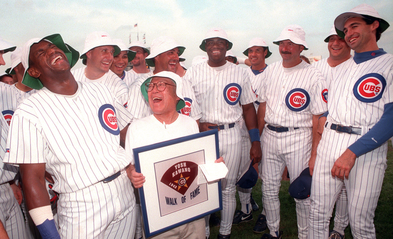 Yosh Kawano is inducted into the Cubs Walk of Fame in 1996.