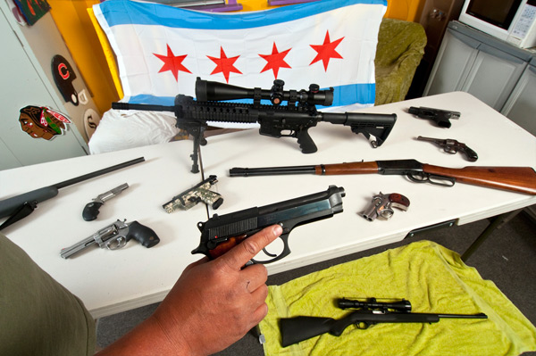 City worker Marty Zamora's unregistered gun collection
