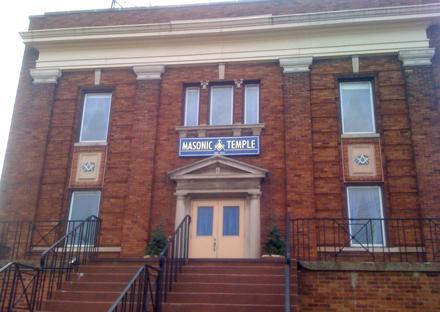 The Jefferson Masonic Temple. Not pictured: freemasons.