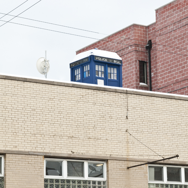 That there? That's a TARDIS on a roof.