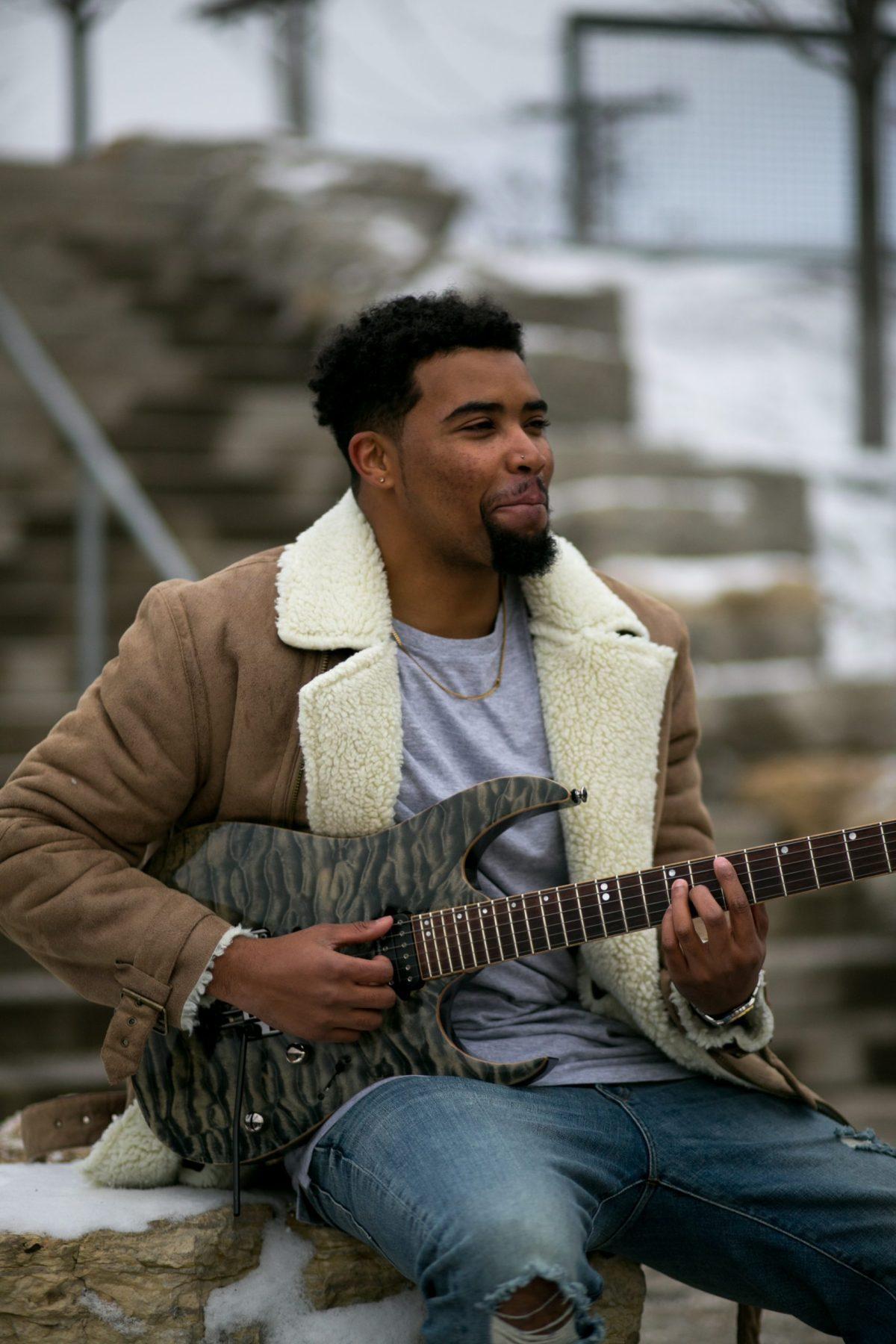 Guitarist Edward Vaughn, aka Rockstar E.V.