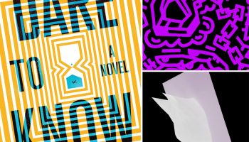 A collage of the covers of the sci-fi novel Dare to Know and the two Slikback EPs Tomo and Akuhika