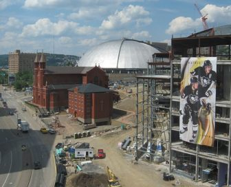 Construction on the Consol Energy Center, Pittsburgh