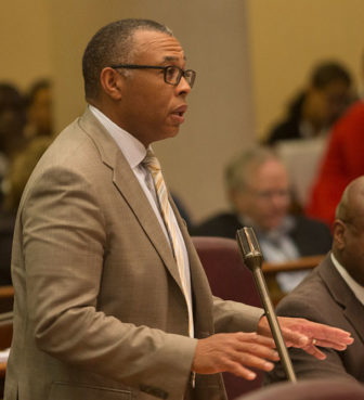 Ald. Howard Brookins, Jr. (21st) at a City Council meeting.