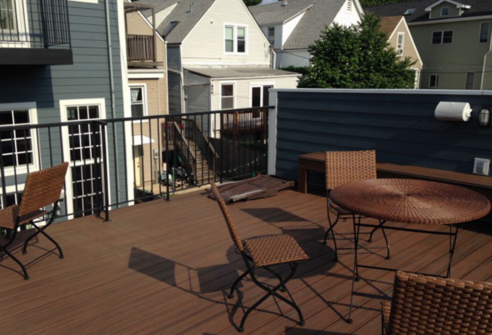 Clean And Simple Garage Roof Deck Chicago Roof Deck Garden