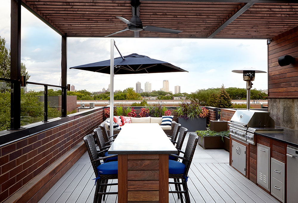 Rooftop Deck In Lincoln Park Penthouse By Chicago Roof