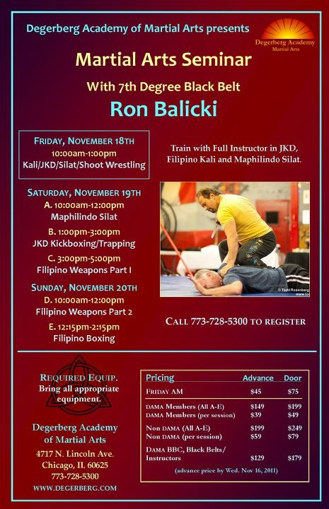 Ron Balicki Seminar at Degerberg
