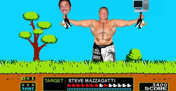"Brock Lesnar in ""Duck Hunt"""
