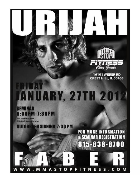 Urijah Faber seminar at MMA Stop
