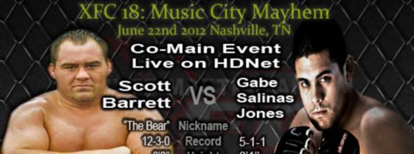 XFC 18 Scott Barrett vs. Gabe Salinas-Jones
