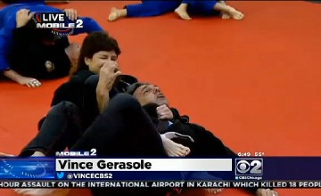 CBS 2's Vince Gerasole at Evolution MMA