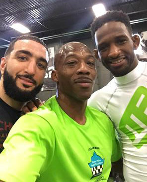 Louis Taylor training recently with Belal Muhammad and Neil Magny