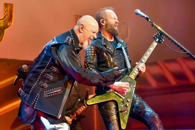 Judas Priest's Rob Halford and Andy Sneap will perform Saturday, May 25, at the Rosemont Theatre. Associated Press, 2018