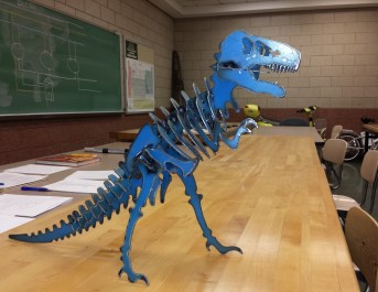 Blue T-Rex Sculpture