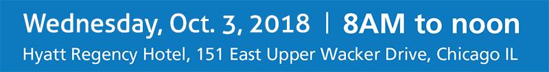 Chicago Sports Summit 2018 - Wed., Oct. 3, 2018