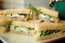 Ashley's cucumber mint butter tea sandwiches