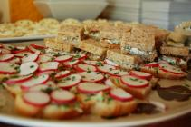 Ashley's cute litte radish and ginger butter sandwiches