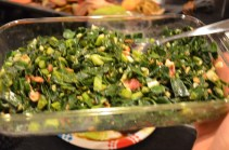 Mark's collard greens with bacon and garlic