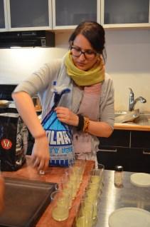 Ashley making her lime soda