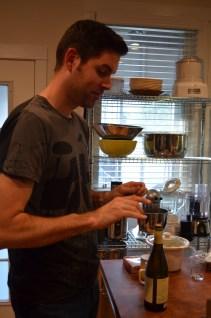Jason doin his wine thing