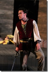 """Michael Moran as Prince John in Oak Park Festival Theatre's summer 2011 production of """"The History of King Henry the Fourth."""" Photo by Johnny Knight."""