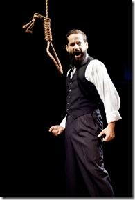 "Edward Fraim as Charles Guiteau, in Billy Pacholski's ""Assassins"" by Stephen Sondheim and John Weidman.  (photo credit: David Turner)"