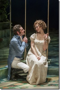 """Ben Jacoby and Victoria Mack star in Milwaukee Repertory Theatre's """"Sense and Sensibility"""", directed by Art Manke. (photo credit: Michael Brosilow)"""