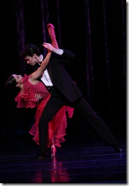 "Anastacia Holden and John Mark Giragosian star in Twyla Tharp's ""Nine Sinatra Songs"" from Joffrey Ballet's ""American Legends"". (photo credit: Herbert Migdoll)"