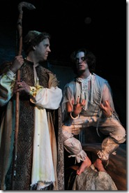 """Chris Aruffo and Jared McDaris star in Accidental Shakespeare Company's """"The Tempest"""" by William Shakespeare, directed by Angeli Primlani."""