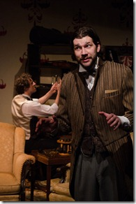 """Nick Lake and Brian Pastor star in Promethean Theatre Ensemble's """"A Study in Scarlet"""", adapted and directed by Paul Edwards."""