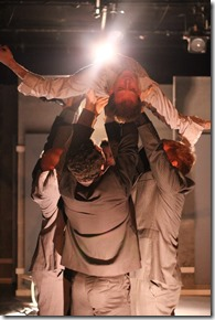 """A scene from Organic Theater's """"Caligula""""by Albert Camus, directed by Alexander Gelman."""