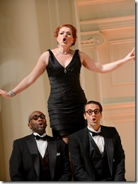 """Martin L. Woods, Colette Todd and David Schlumpf star in Light Opera Works' """"Gershwin's Greatest Hits"""", directed by George Andrew Wolff, music-directed by Valerie Maze. (photo credit: Chris Ocken)"""