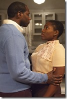 "Daryl Satcher and Mildred Marie Langford star in TimeLine Theatre's ""A Raisin in the Sun"" by Lorraine Hansberry, directed by Ron OJ Parson. (photo credit: Lara Goetsch)"