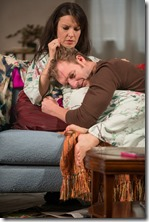 "Kate Arrington and Cliff Chamberlain star in Steppenwolf Theatre's ""Belleville"" by Amy Herzog, directed by Anne Kauffman. (photo credit: Michael Brosilow)"