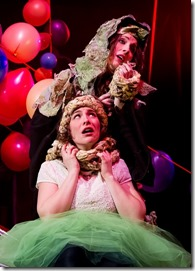 "Sarah Bockel and Hillary Marren star in The Hypocrites' ""Into the Woods"" by Stephen Sondheim and James Lapine, directed by Geoff Button. (photo credit: Matthew Gregory Hollis)"