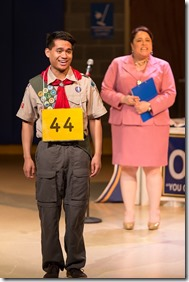 "Jordan DeLeon and Frances Limoncelli star in Drury Lane Theatre's ""The 25th Annual Putnam County Spelling Bee"" by William Finn and Rachel Sheinkin, directed by Scott Calcagno. (photo credit: Brett Beiner)"