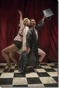 """Danni Smith and Matthew Keffer star in Bailiwick Chicago's """"The Wild Party,"""" directed and choreographed by Brenda Didier. (photo credit: Michael Brosilow)"""