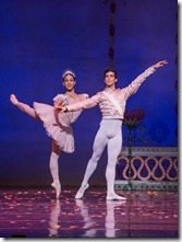 """Amanda Assucena and Alberto Velazquez in Joffrey Ballet's """"The Nutcracker,"""" conceived and directed by Robert Joffrey. (photo credit: Cheryl Mann)"""