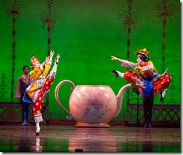 """Anastacia Holden and Hansol Jeong in Joffrey Ballet's """"The Nutcracker,"""" conceived and directed by Robert Joffrey. (photo credit: Cheryl Mann)"""