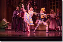 """Caitlin Meighan and Yoshihisa Arai in Joffrey Ballet's """"The Nutcracker,"""" conceived and directed by Robert Joffrey. (photo credit: Cheryl Mann)"""