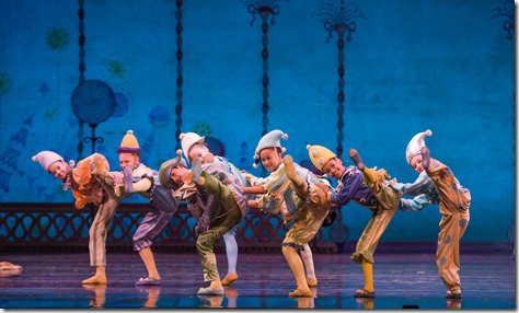 """Children from  Polichinelles in Joffrey Ballet's """"The Nutcracker,"""" conceived and directed by Robert Joffrey. (photo credit: Cheryl Mann)"""