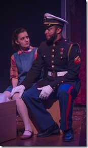 """Jaclyn Hennell and Desmond Gray star in The House Theatre's """"The Nutcracker,"""" adapted from the story by E.T.A. Hoffmann, directed by Tommy Rapley. (photo credit: Michael Brosilow)"""