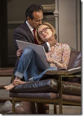 """Bernard White and Nisi Sturgis star in Goodman Theatre's """"Disgraced"""" by Ayad Akhtar, directed by Kimberly Senior."""