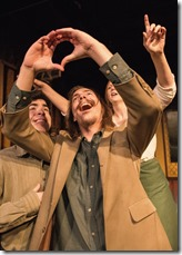 """Brendan Connelly, Chris Schroeder and Brenda Scott Wlazlo star in Red Theater and Oracle Productions' """"R + J: The Vineyard,"""" adapted by Aaron Sawyer and Janette Bauer."""